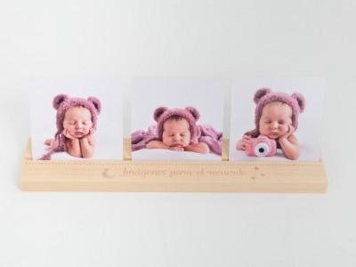 Peana + 3 Fotos Baby & Kid